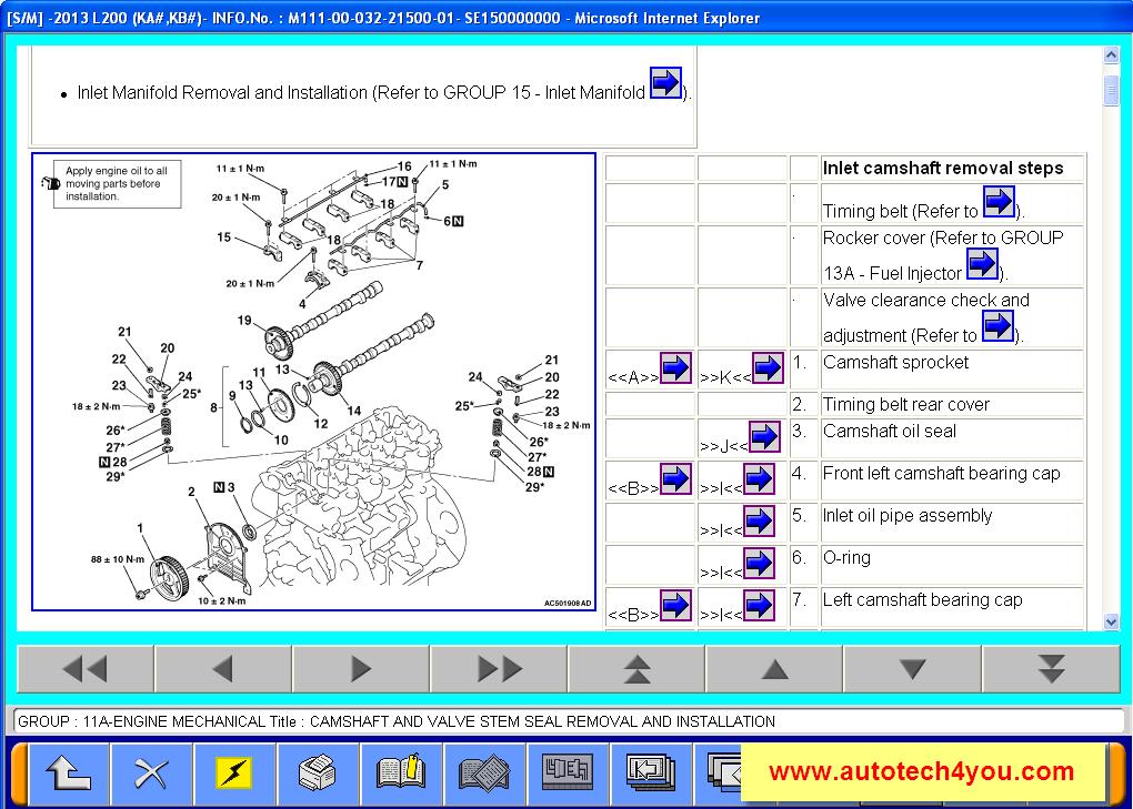 Mitsubishi L200 mechanical repair