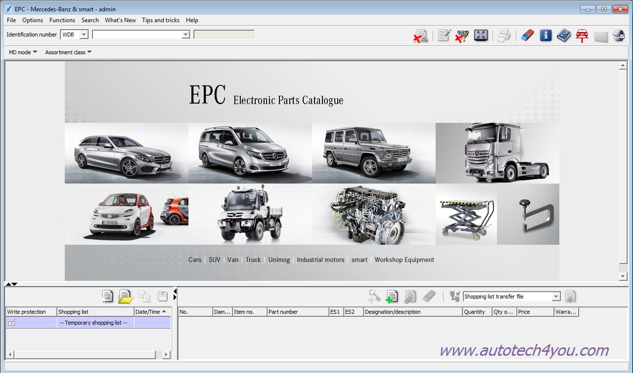 Mercedes EPC EWA NET 10.2016