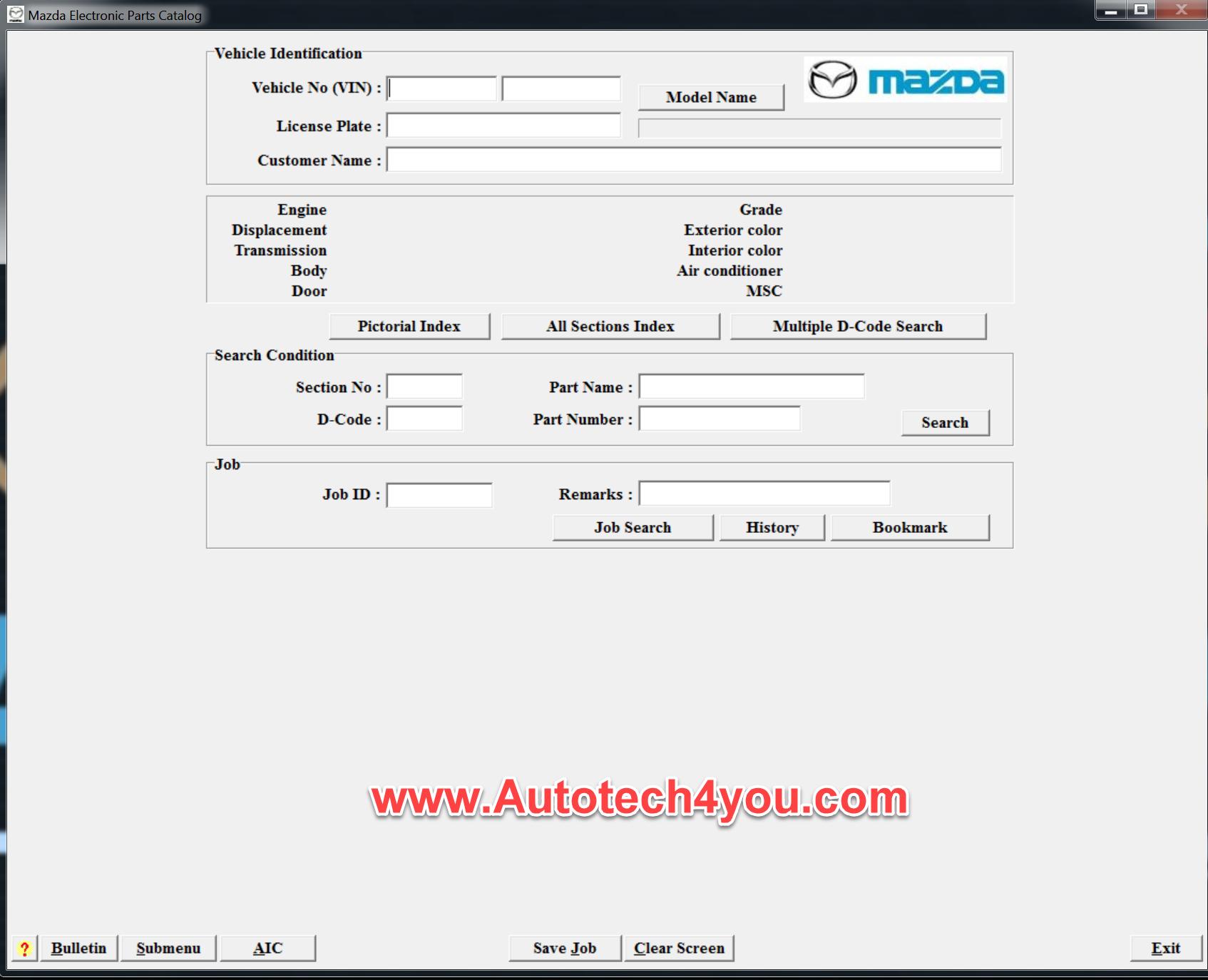 Mazda parts catalog