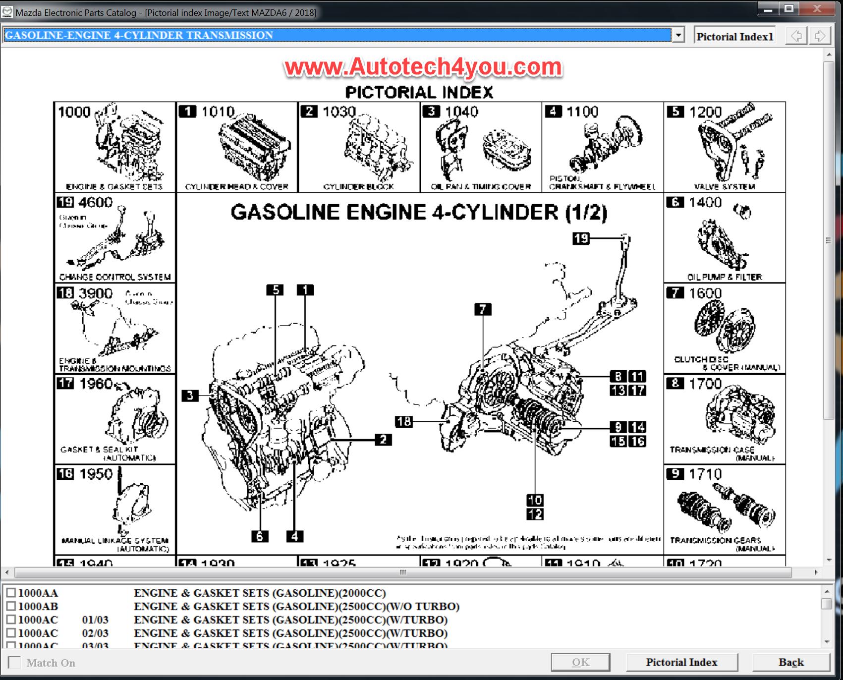 Mazda electronic catalog