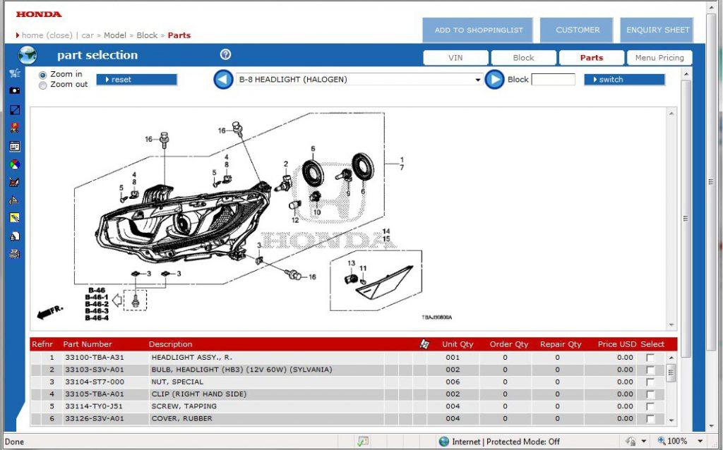 Honda epc online
