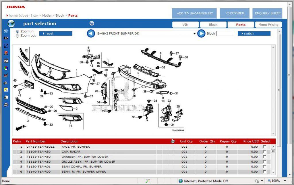 honda parts search