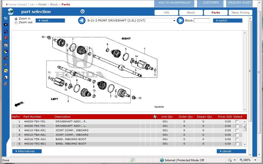 electronic parts catalog