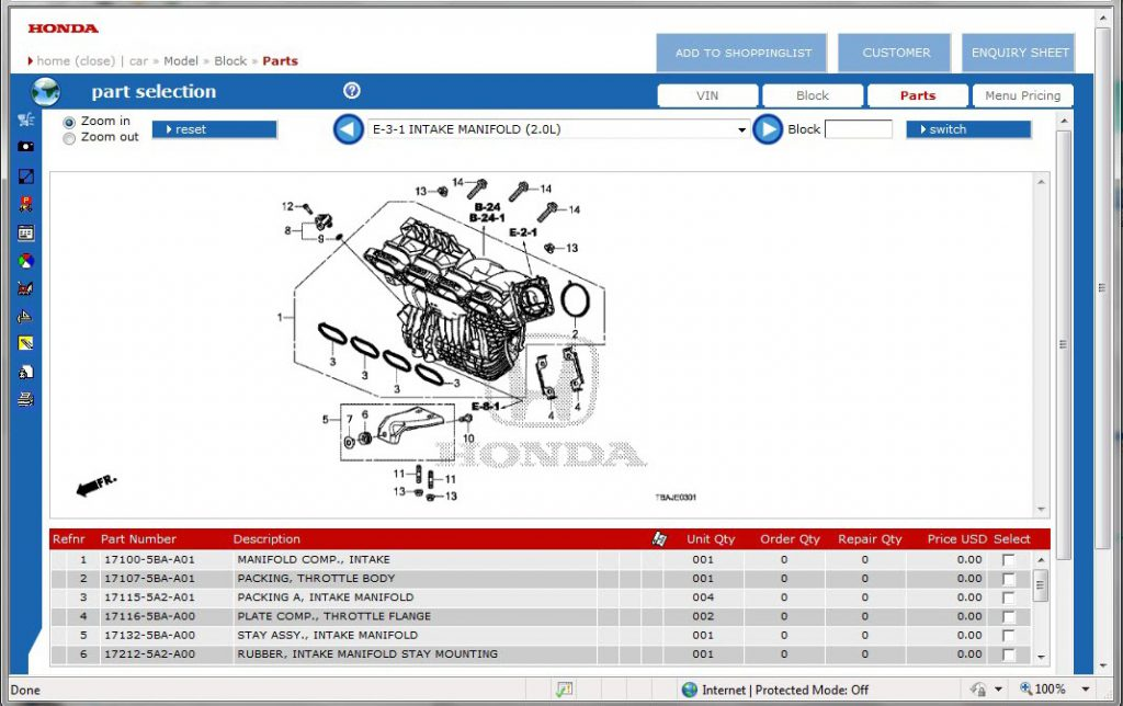 Honda search