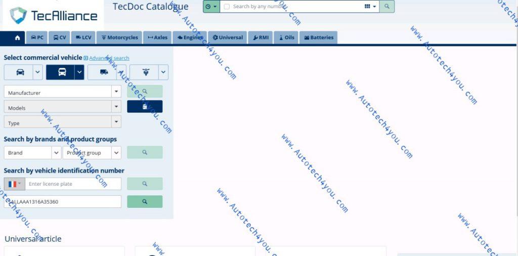 tecdoc online catalog