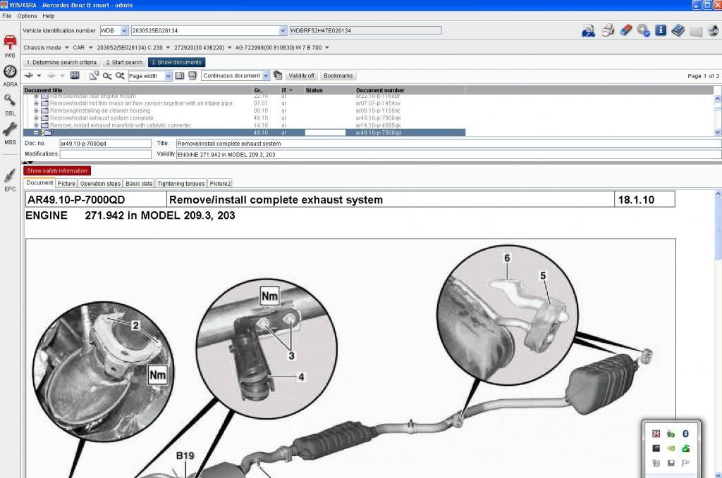 Mercedes repair information system