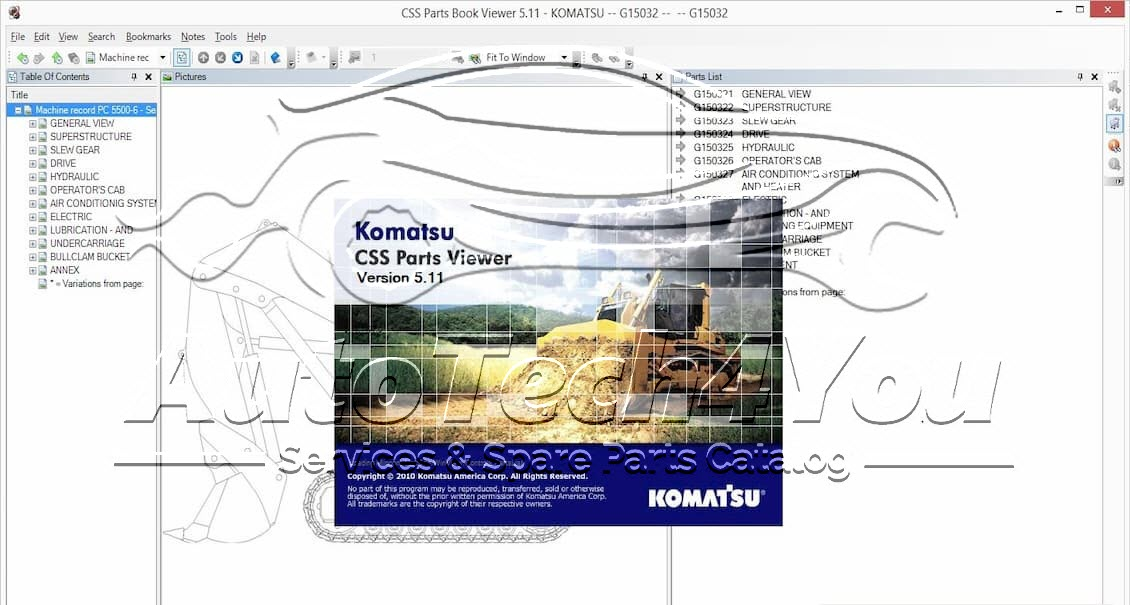 Komatsu parts catalog
