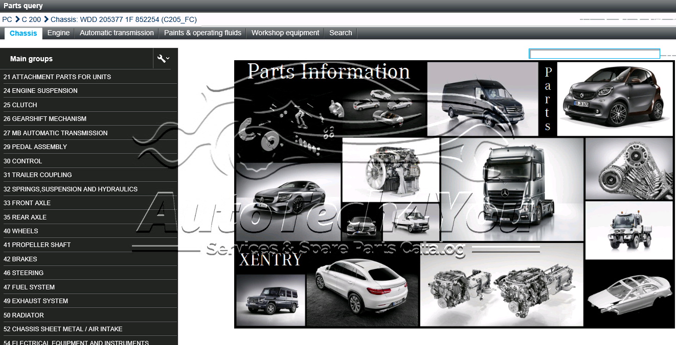 passenger cars parts
