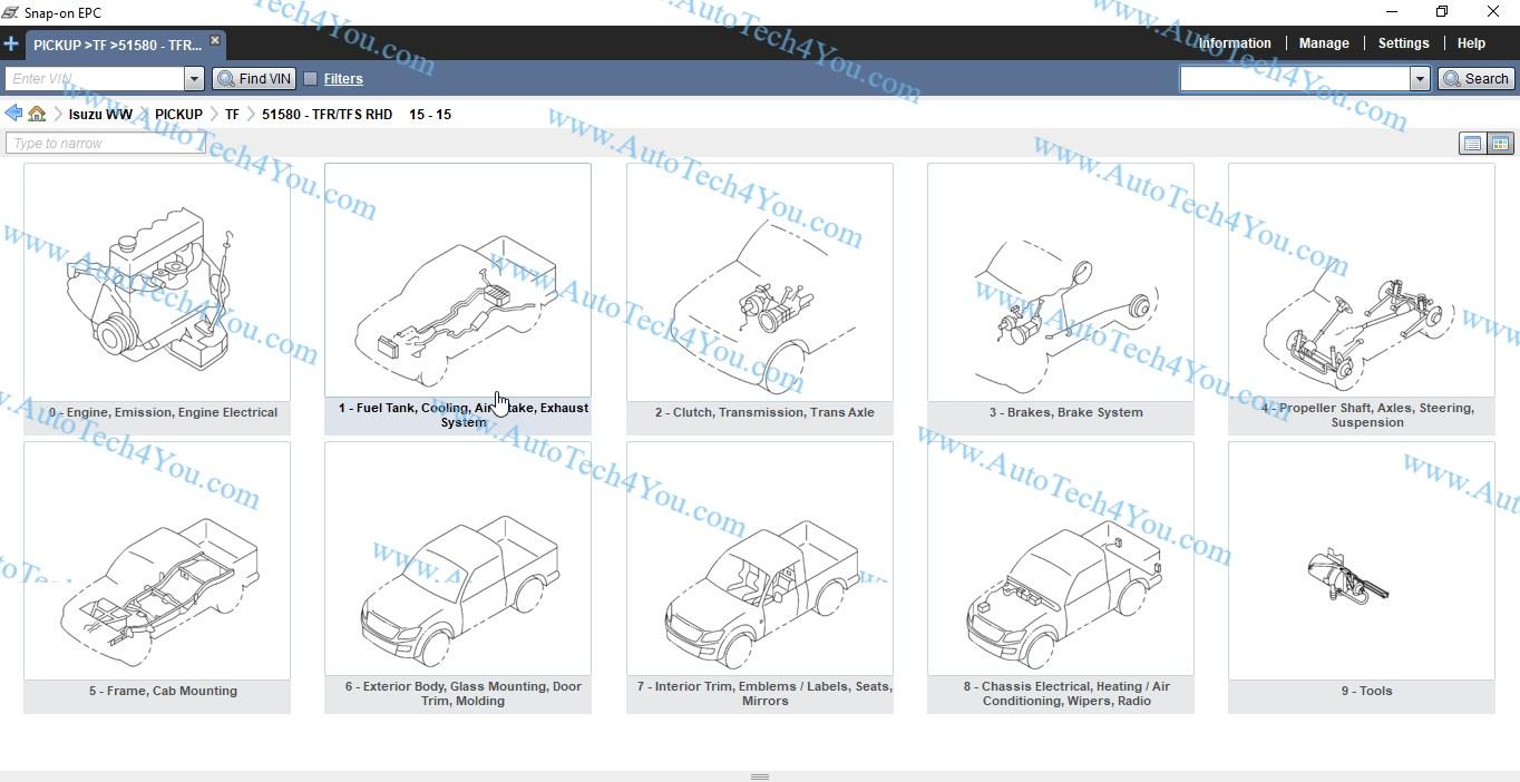 Isuzu electronic parts catalog