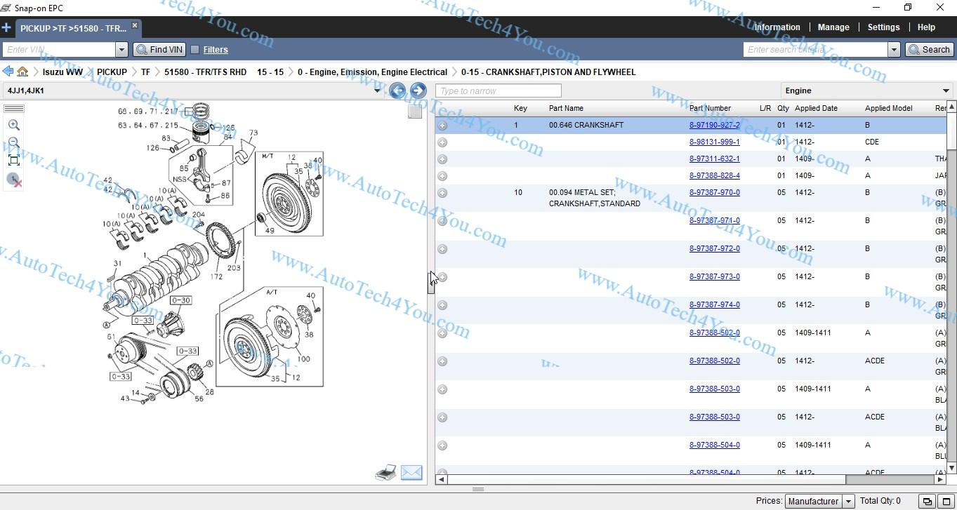 Isuzu parts catalog