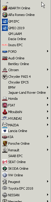 All cars Electronic parts catalogs