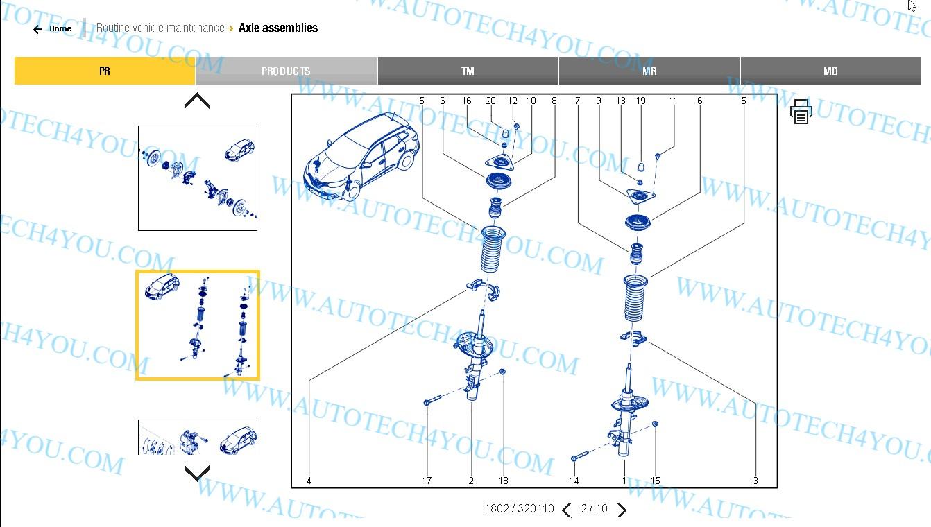 Renaults parts catalog