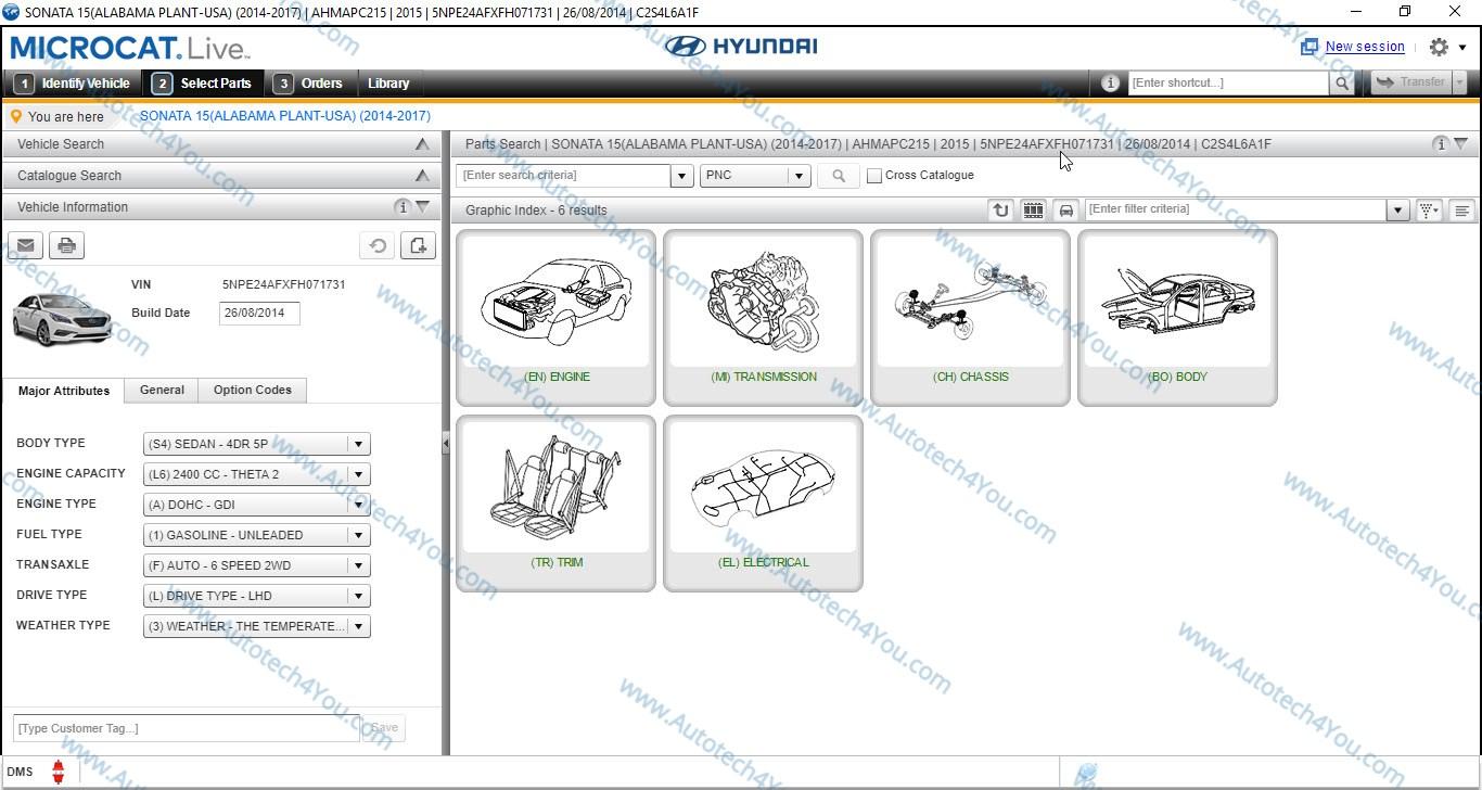 Hyundai cars parts books