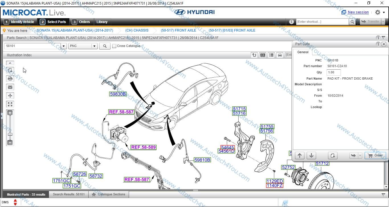 Hyundai Genuine parts catalog