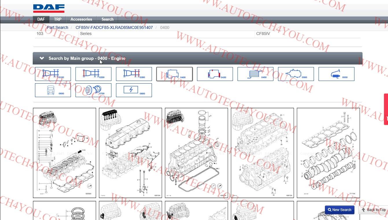 DAP electronic parts catalog