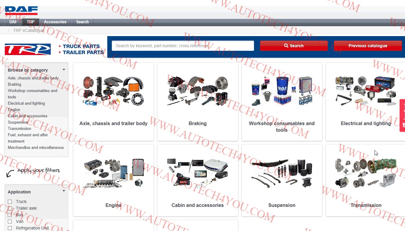 TRP electronic Parts Catalog